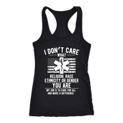 Image of I Don't Care You Are a Paramedic - Next Level Racerback Tank