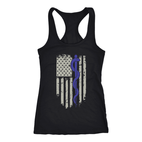 Image of Snake Staff Flag - Next Level Racerback Tank