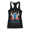 Trained to Save Lives - Next Level Racerback Tank