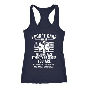 I Don't Care You Are a Paramedic - Next Level Racerback Tank