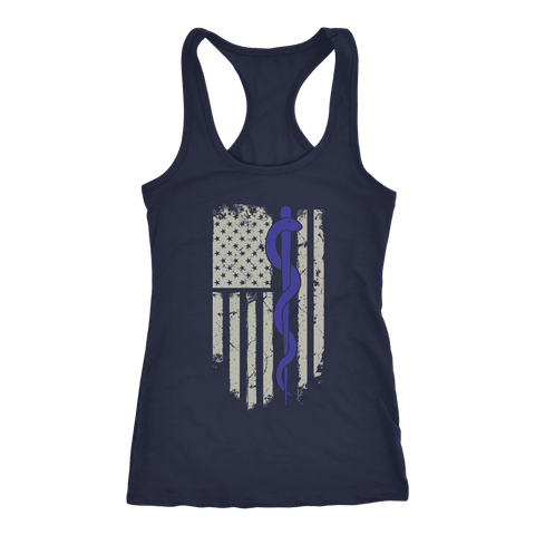 Snake Staff Flag - Next Level Racerback Tank