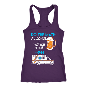 Alcohol + Watch This - Next Level Racerback Tank