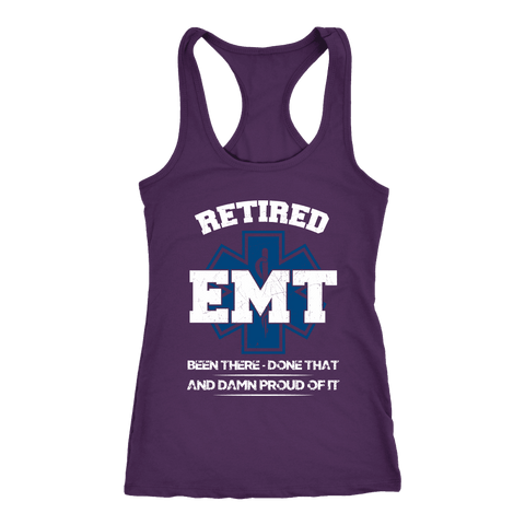 Retired Emt Been There Done That - Next Level Racerback Tank
