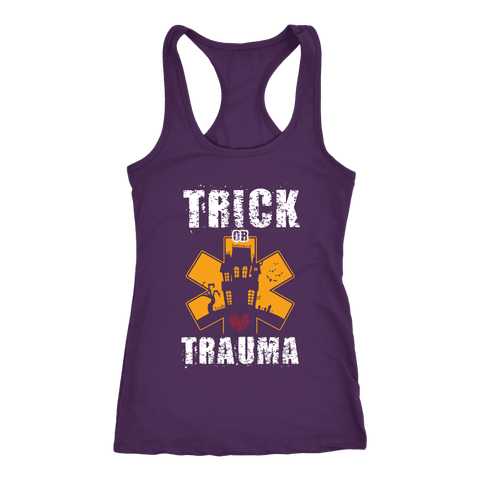 Trick or Trauma - Next Level Racerback Tank