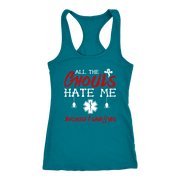 Image of All the Ghouls Hate Me - Next Level Racerback Tank