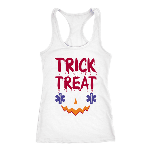 Trick or Treat Emt - Next Level Racerback Tank