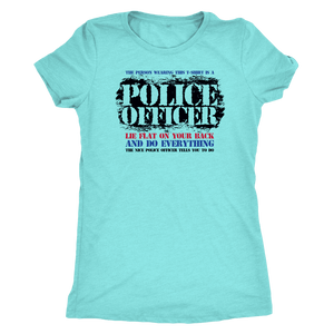 Lie Flat On Your Back - Soft Next Level Womens Triblend Tee