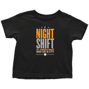Night Shift Is Awesome EMT - Soft Toddler T-Shirt