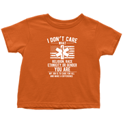 Image of I Don't Care You Are A Paramedic - Soft Toddler T-Shirt