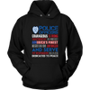 America's Finest - Courageous & Strong Police Support Hoodie