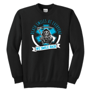 Death Smiles At Everyone - Soft Youth Crewneck Sweatshirt