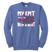 Image of My EMT Makes My Heart Skip A Beat - Soft Youth Crewneck Sweatshirt