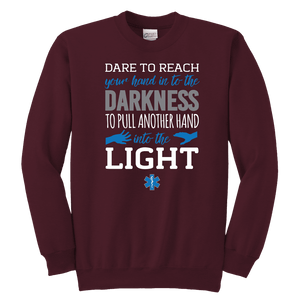 Dare To Reach Your Hand - Soft Youth Crewneck Sweatshirt