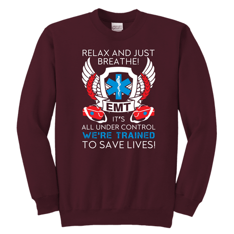 Trained To Save Lives - Soft Youth Crewneck Sweatshirt