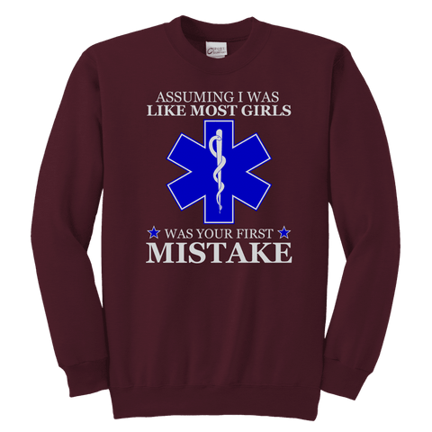Image of Your First Mistake - Soft Youth Crewneck Sweatshirt