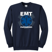 Image of EMT Paramedic Distressed - Soft Youth Crewneck Sweatshirt