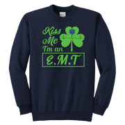 Image of Kiss Me I'm An EMT - Soft Youth Crewneck Sweatshirt