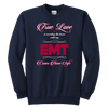 True Love Is Counting The Hours Until My EMT - Soft Youth Crewneck Sweatshirt
