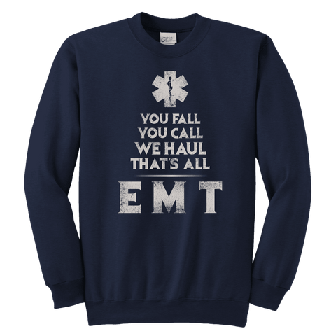 Image of You Fall You Call - Soft Youth Crewneck Sweatshirt