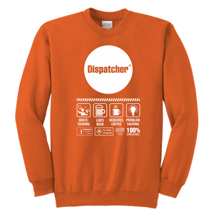 Multi Tasking Dispatcher - Soft Youth Crewneck Sweatshirt