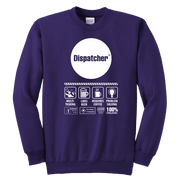 Image of Multi Tasking Dispatcher - Soft Youth Crewneck Sweatshirt