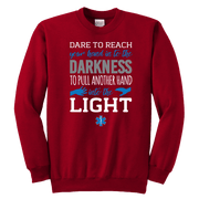 Image of Dare To Reach Your Hand - Soft Youth Crewneck Sweatshirt