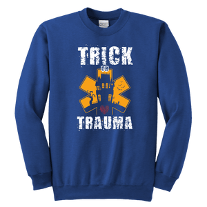Trick Or Trauma - Soft Youth Crewneck Sweatshirt