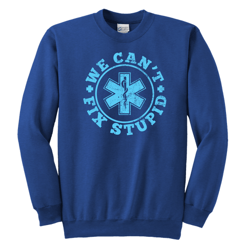 Image of We Can't Fix Stupid - Soft Youth Crewneck Sweatshirt