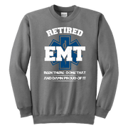 Image of Retired EMT Been There Done That - Soft Youth Crewneck Sweatshirt