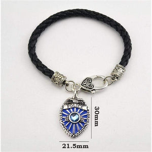 Rhodium Plated Police Badge Charm Bracelet