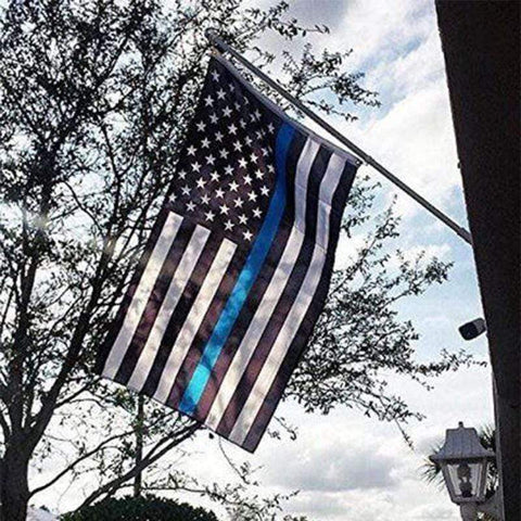 Image of FLASH SALE - Thin Blue Line Flag - High Quality Embroidered