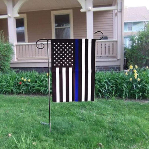 Image of Thin Blue Line Garden Flag