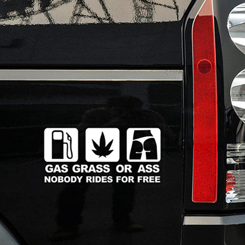 16*7.5 CM GASS GRASS ASS Vinyl Decal