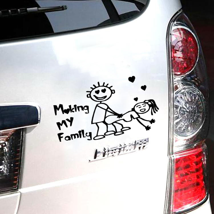 Make my family car vinyl decal sticker