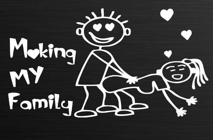 """Make My Family"" Car Vinyl Decal Sticker"