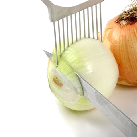 1PC Onion Tomato Vegetable Slicer Cutting Aid Guide Holder Slicing Cutter Gadget  KT0195