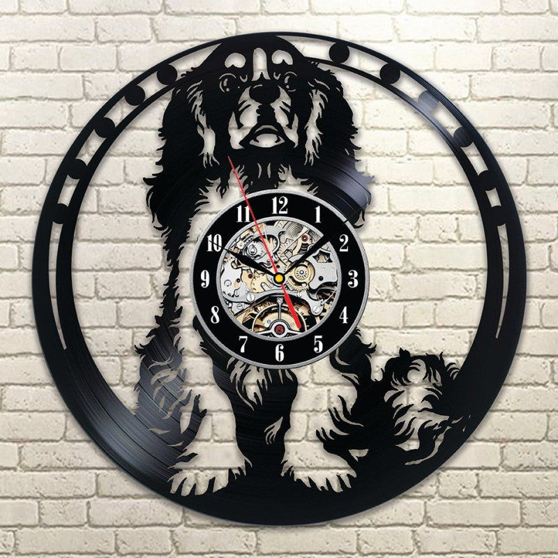 Cavalier King Charles Vinyl Wall Clock