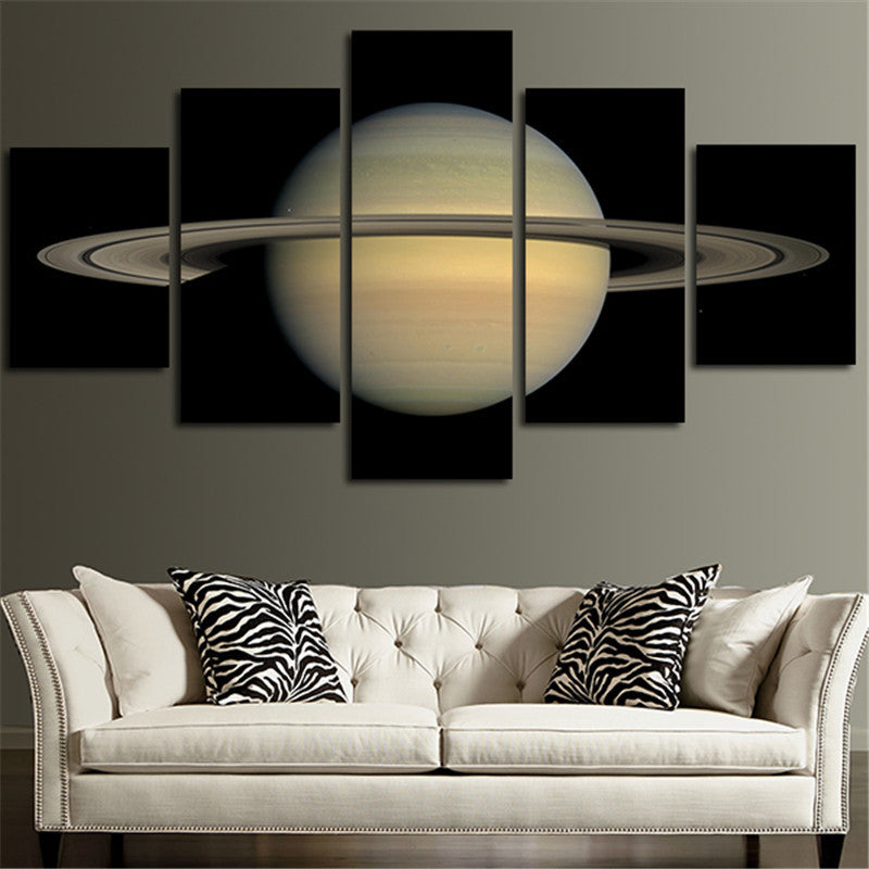 Saturn 5 Piece Canvas Wall Art