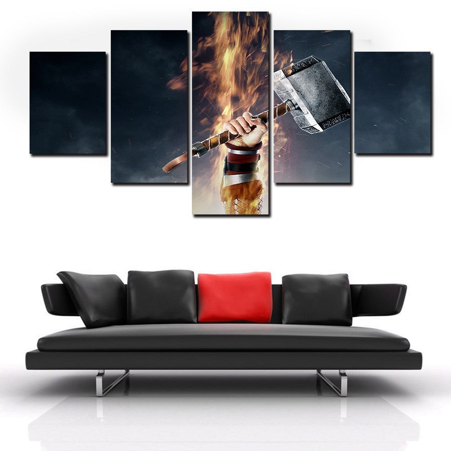 Thor Mjolnir Canvas Print Wall Art