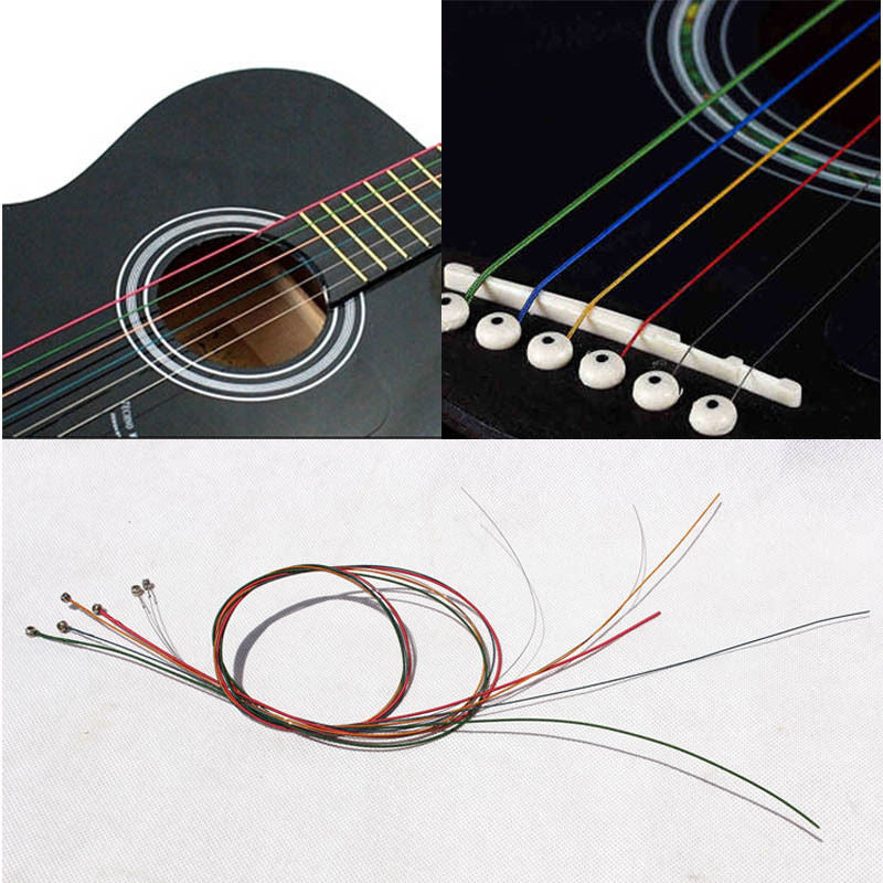 Custom Multi Colored Acoustic Guitar Steel Strings