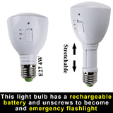 Rechargeable Emergency Torch LED Light Bulb