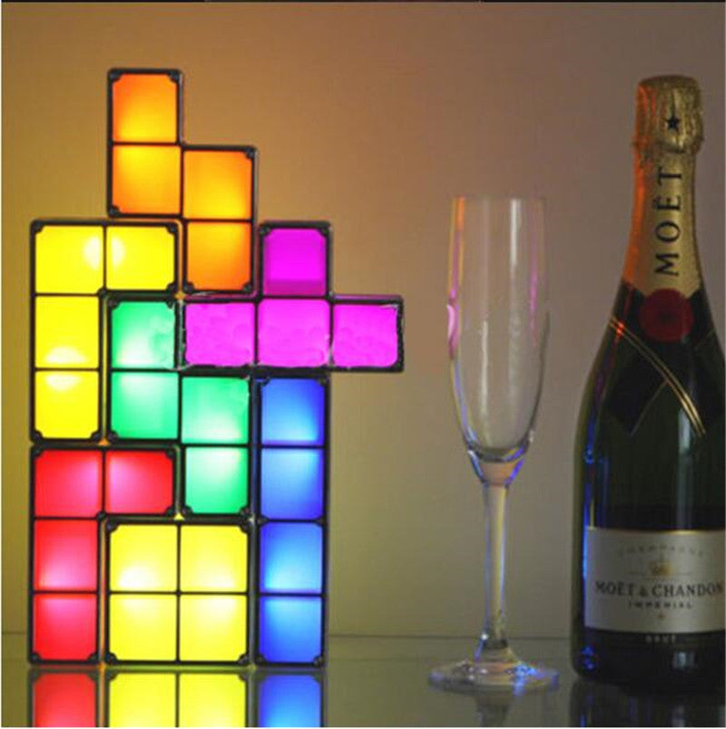 Stack-able Tetris Puzzle LED Light