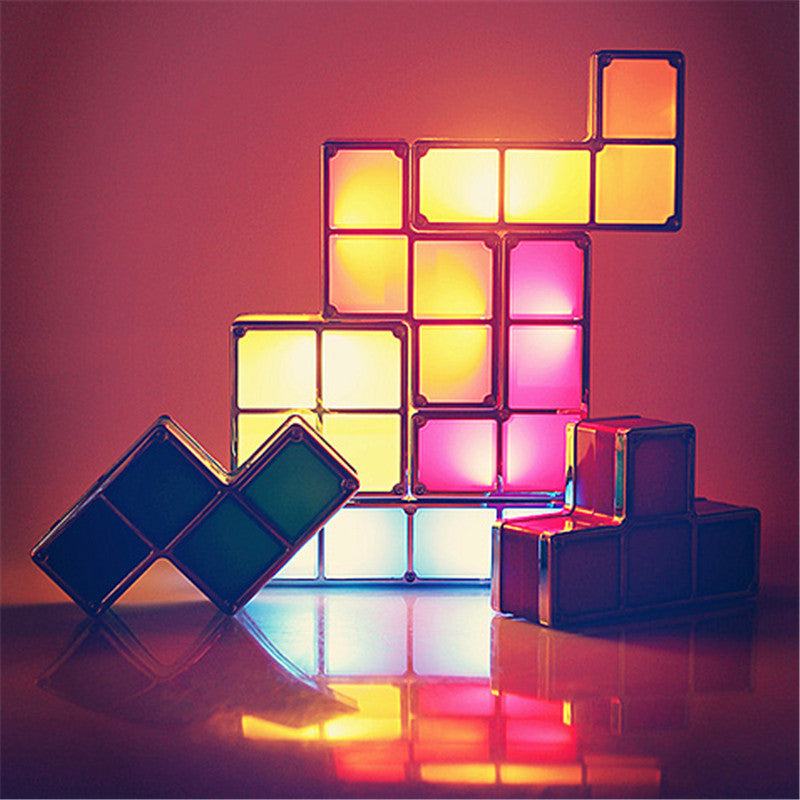 Stack-able Tetris Puzzle LED Light - Stack-able Tetris Puzzle LED Light - Flava Gear