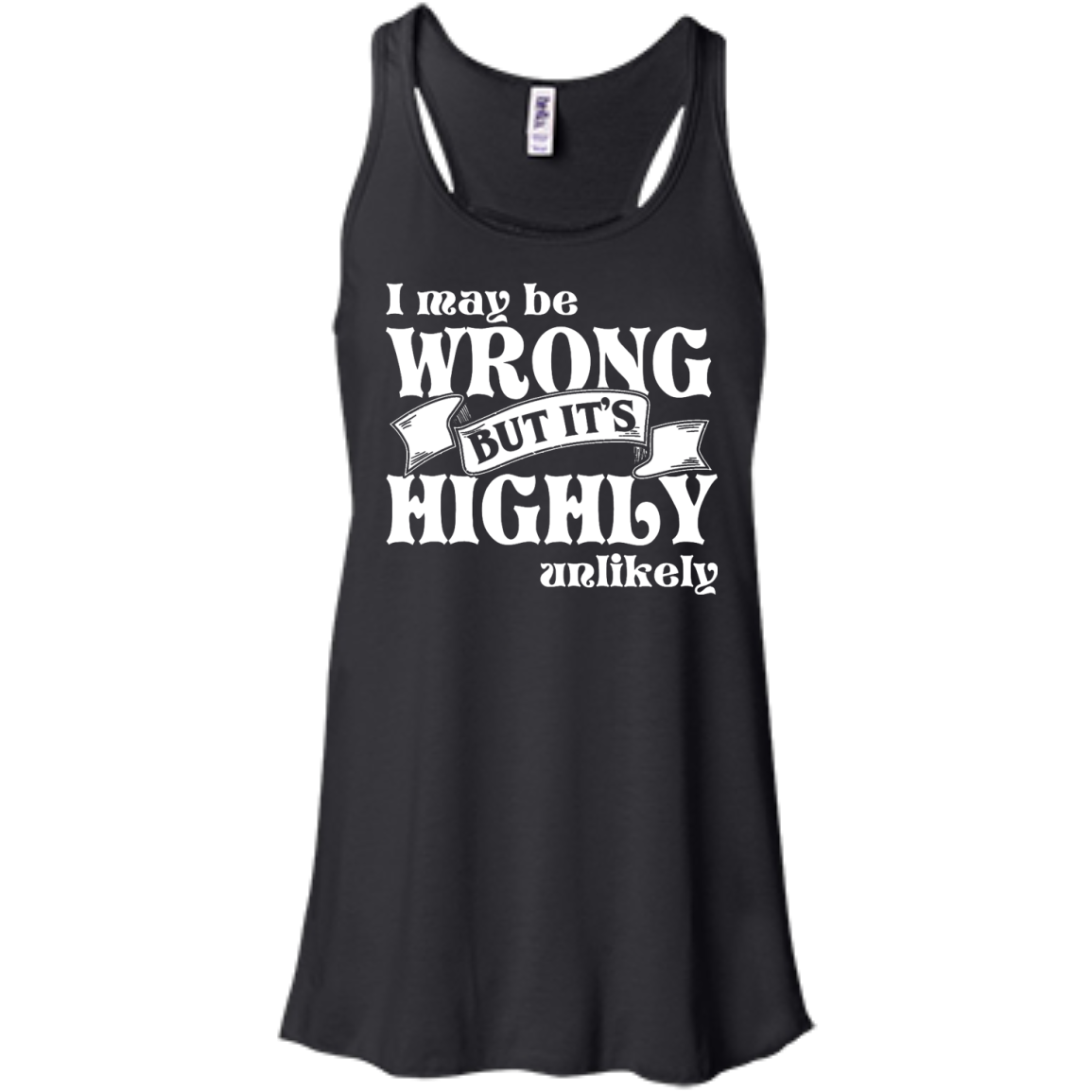 Never Wrong Flowy Racerback Tank