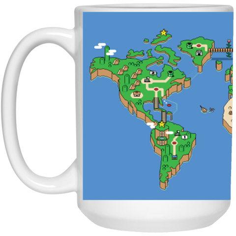 Mario World Map Theme Mug - 15oz