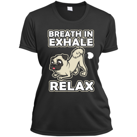 Pug Yoga Ladies Short Sleeve Moisture-Wicking Shirt