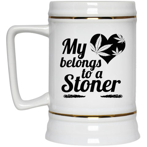 Heart Stoner Beer Stein - 22 oz