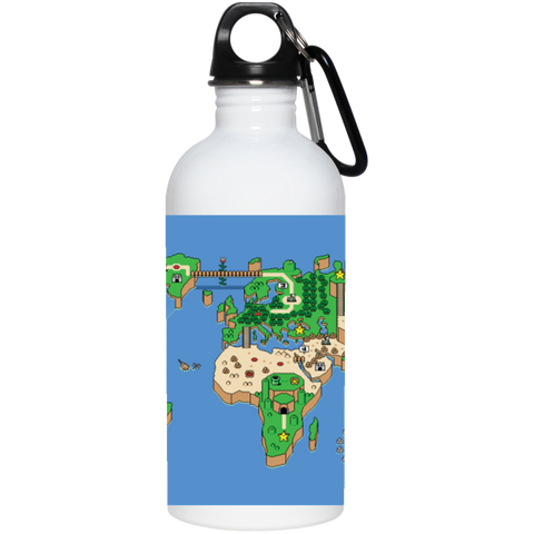 Mario World Map Theme 20 oz Stainless Steel Water Bottle