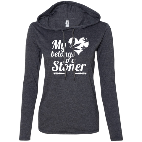Heart Stoner Ladies -Shirt Hoodie