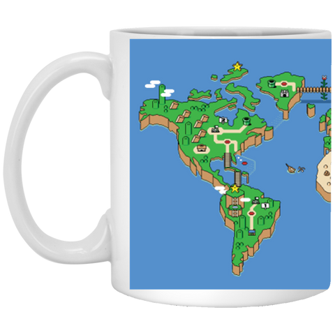 Mario World Map Theme 11 oz. Mug
